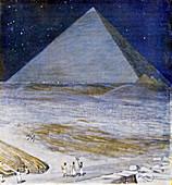 Great Pyramid of Giza,illustration