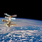 Mir Space Station from Space Shuttle