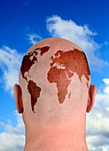 Global thinking,conceptual image