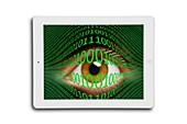 Cyberspying,conceptual image