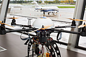 UAV drone at an airport