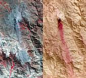 Ubinas volcano,Peru,satellite images