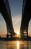 Blue Water Bridge,US-Canada border