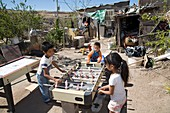 Children playing in a slum,Mexico