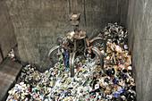 Rubbish at refuse facility
