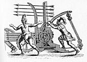 Roman ballista,historical illustration