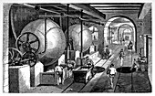 Paper mill,19th century