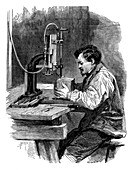 Compressed air engraving,19th century