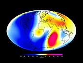 Global magnetic field,satellite map