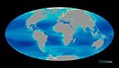 Global phytoplankton levels,1997-2007