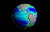 Americas phytoplankton levels,1997-2007