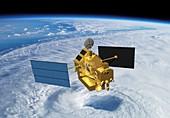 TRRM rainfall satellite,illustration