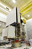 GPM rainfall satellite assembly