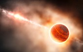 Planet formation around a star