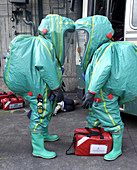 Emergency ventilation,protective suits
