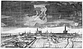 Comet of 1665,historical illustration