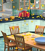 Household bacteria cross-contamination
