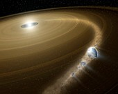 Comet destroyed by white dwarf