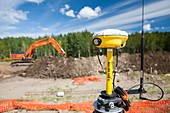 GPS theodolite new house building
