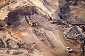 Tar sands deposits being mined