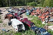 Scrap metal dump in Fort Chipewyan