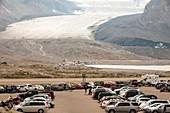 Athabasca glacier is receding rapidly
