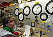 Commercial diving control room