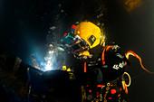 Commercial diver welding