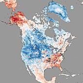 North America temperatures,December 2013