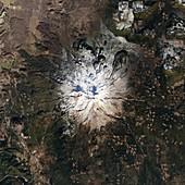 Mount Shasta,USA,satellite image