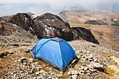 tent,Sgurr Dearg,Cuillin mountains,UK