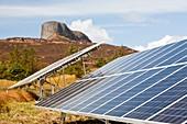 Solar PV panels,Isle of Eigg,UK