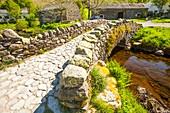 Ancient packhorse bridge,UK