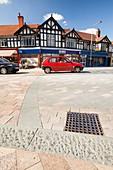 shared space in Poynton,Cheshire,UK