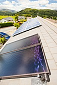 Solar thermal panels with solar PV