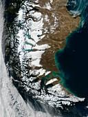 South American winter,satellite image