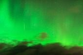Aurora borealis and comet,Norway