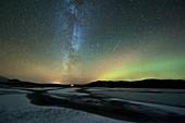 Aurora borealis and Orionids,Norway