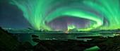 Aurora borealis,Norway