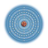 Polonium,atomic structure