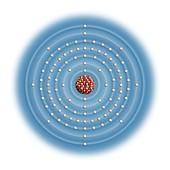 Fermium,atomic structure