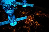 City lights of Western Europe,ISS image