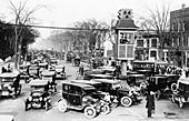 Traffic control in Detroit,circa 1920s