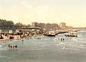 Margate beach,1890s