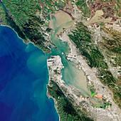 San Francisco Bay,USA,satellite image