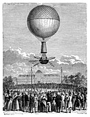 Blanchard's first balloon flight,1784