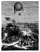 Balloon at Siege of Mainz,1795