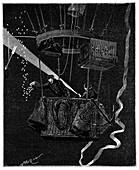 Siege of Paris night balloon,1870s