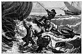 'Le Tricolore' balloon rescue,1874