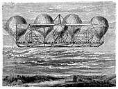 Petin's planned aerostat,1850s